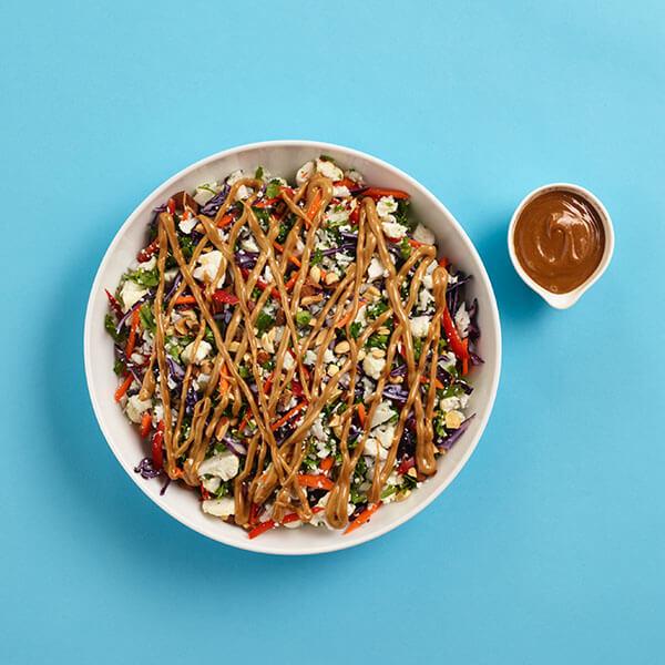 Chopped Cauliflower Rice Salad & Peanut Dressing – Recipes