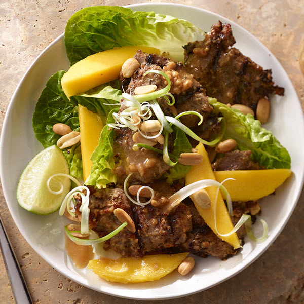 Beef and Mango Salad with Peanut Dressing – Recipes
