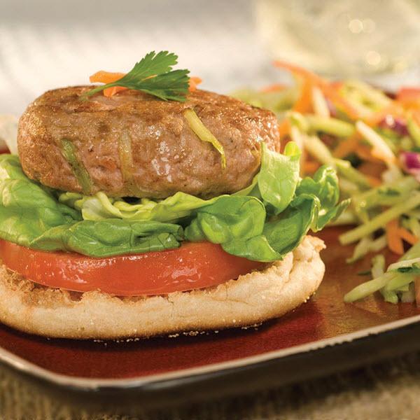 Open-Face Oriental Turkey Burgers – Recipes